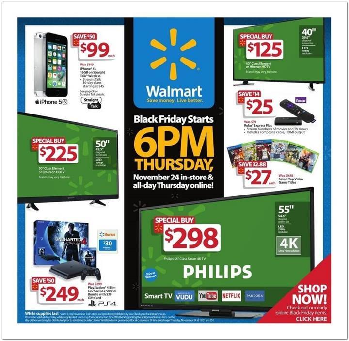 Walmart Black Friday 2016 Ad - Pg 1