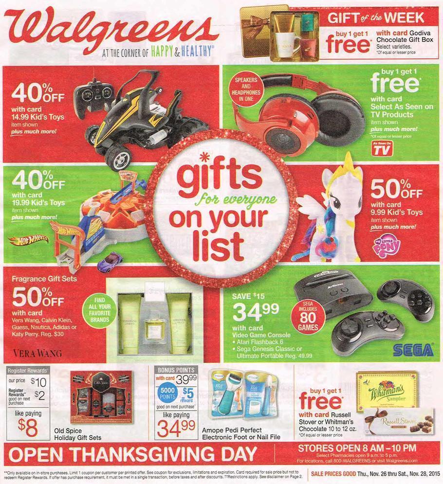 Walgreens Black Friday 2015 Ad 1