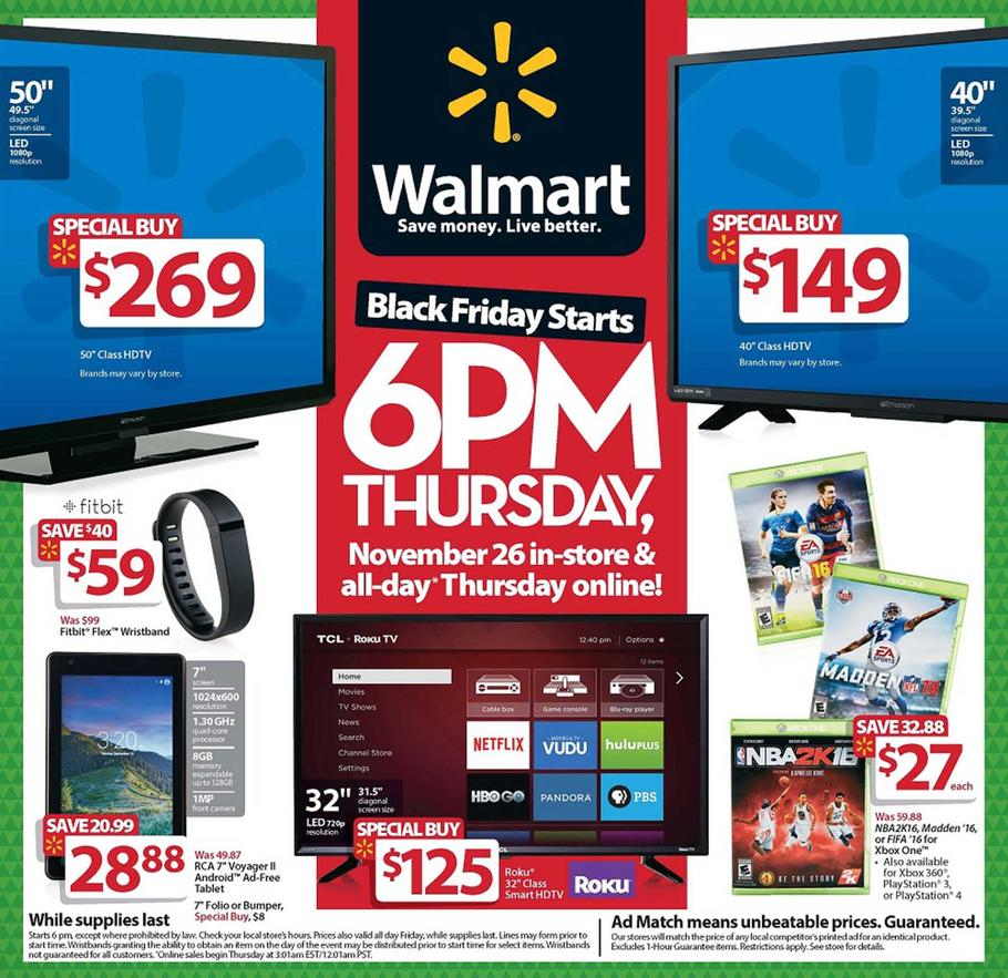 Walmart Black Friday 2015 Ad Preview Page 1