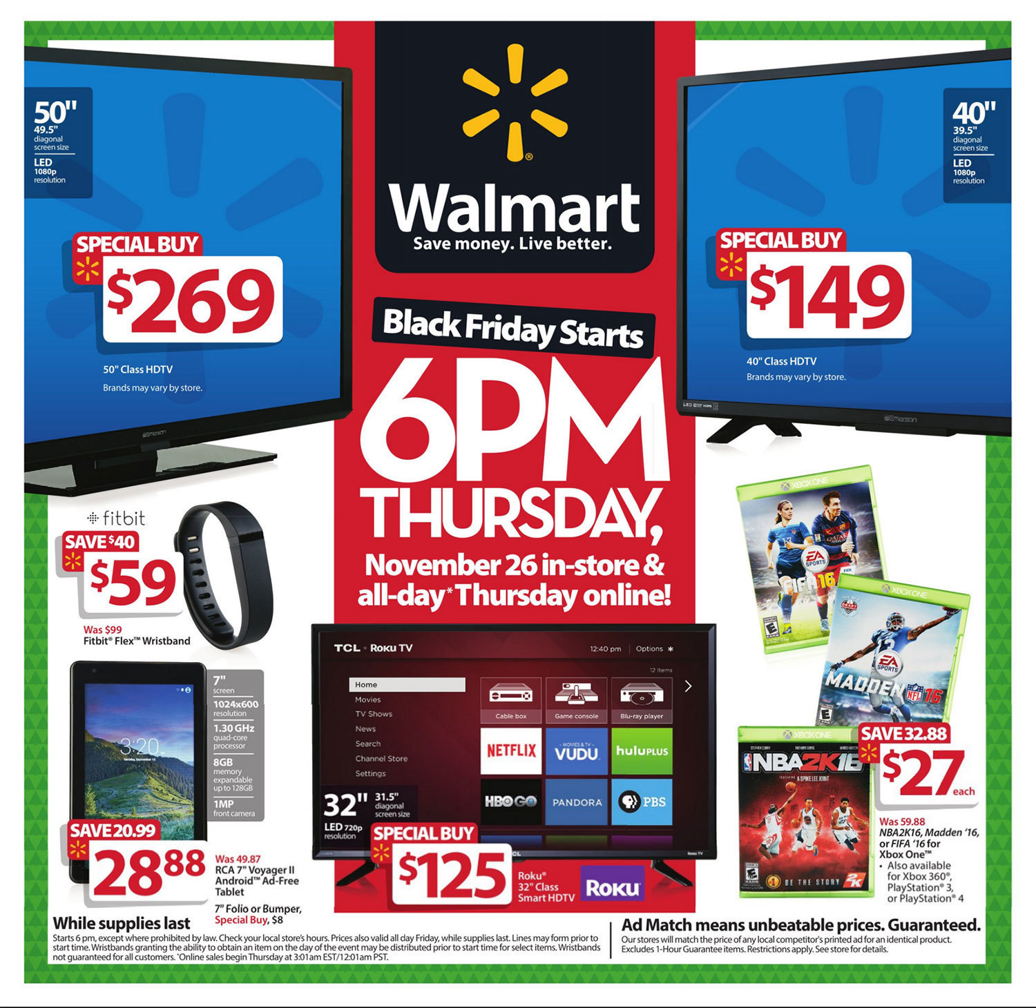 Walmart Black Friday 2015 Ad Page 1