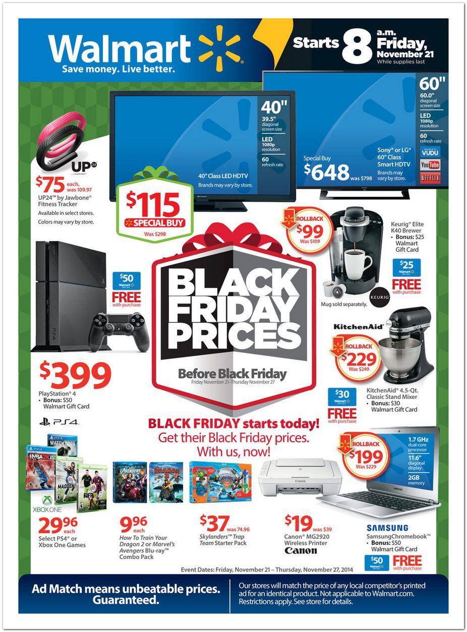 Walmart PreBlack Friday Pg 1