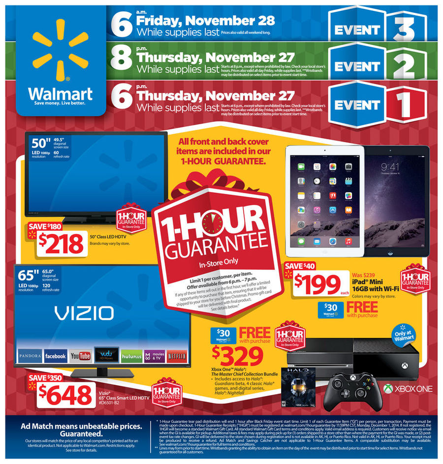 Walmart Black Friday Ad 2014 Pg 1