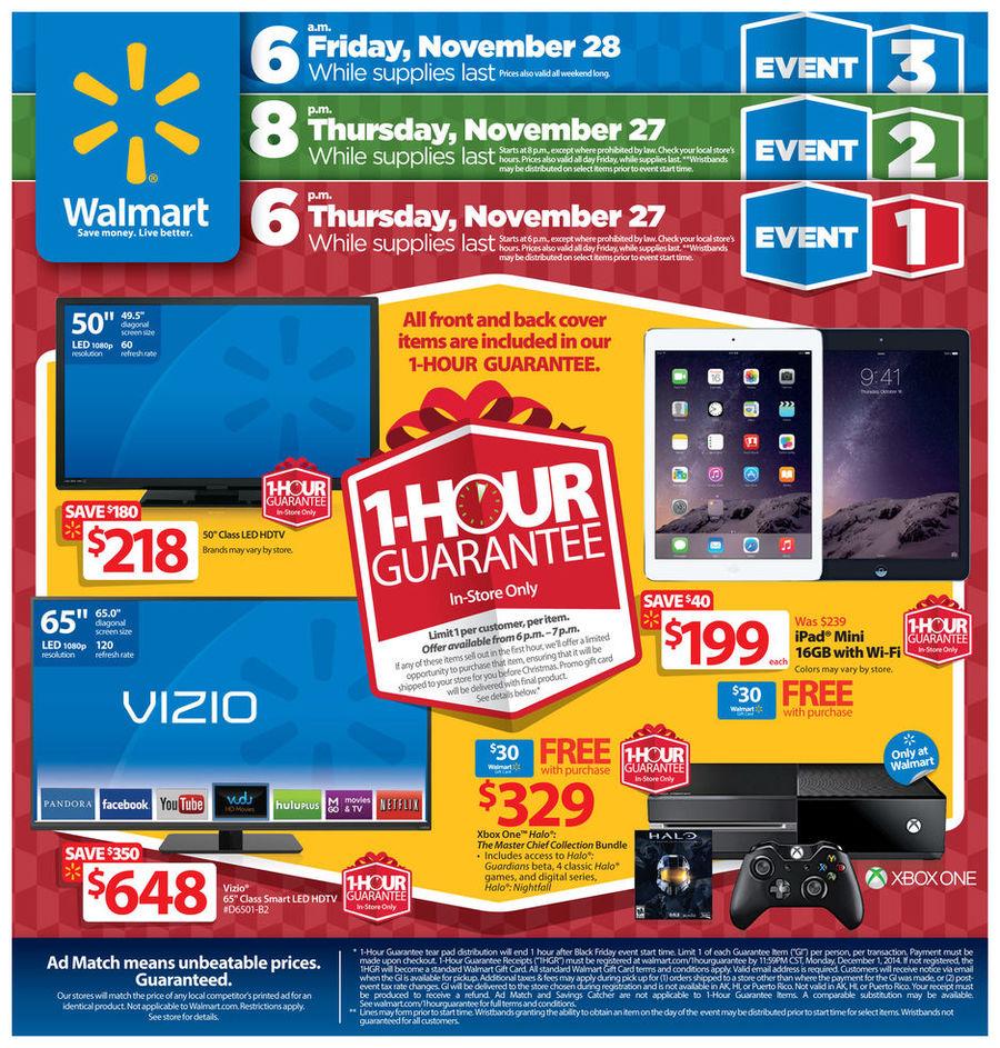 Walmart Black Friday Ad 2014 Pg 1