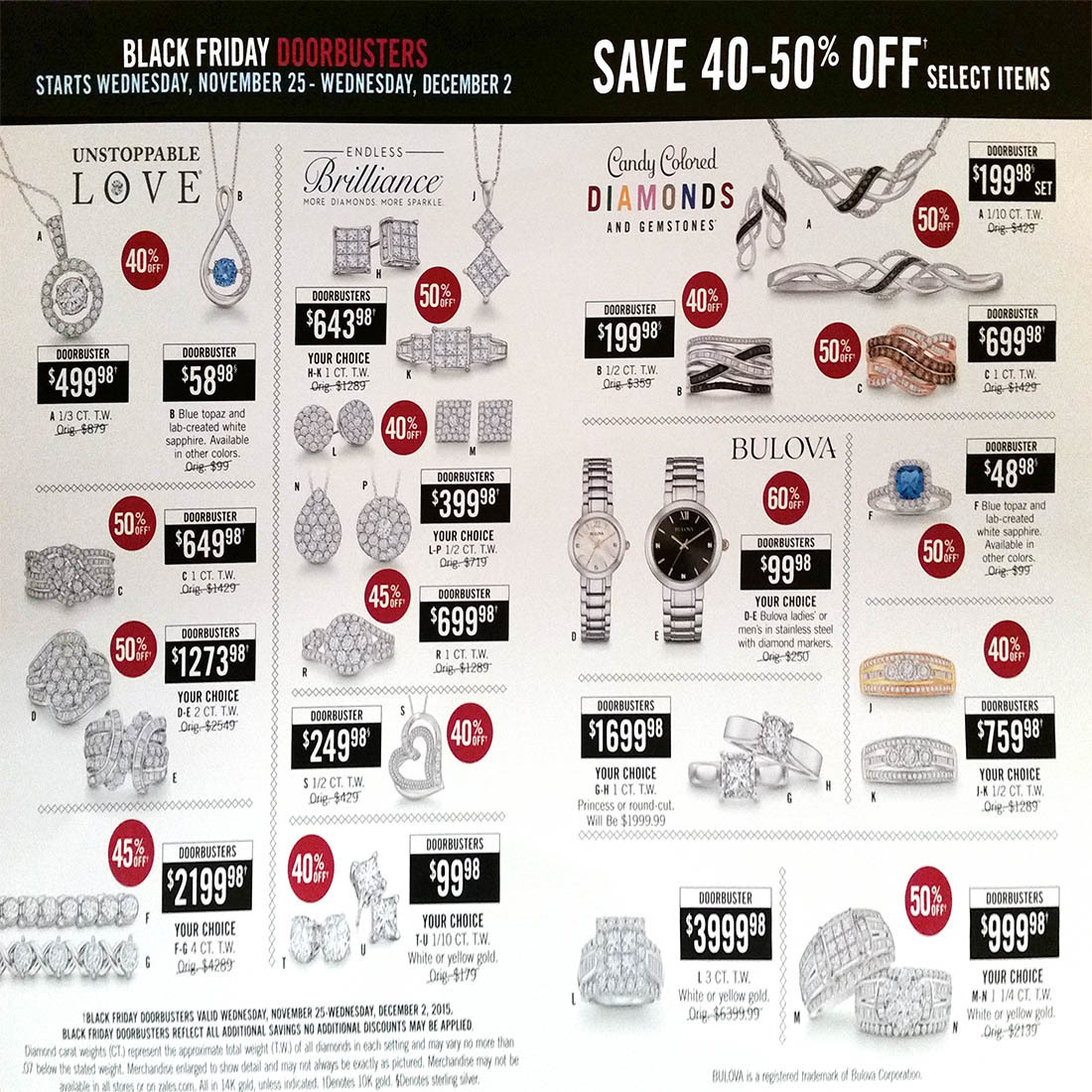 Zales Black Friday 2015 Ad Page 1