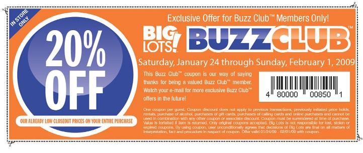 Big lots buzz