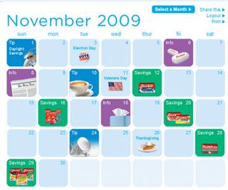 Tylenol Calendar