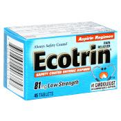 ecotrin Walgreens: Ecotrin Moneymaker Deal