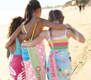 Dead Now! Pottery Barn Kids: Personalized Beach Towels $9.99 and