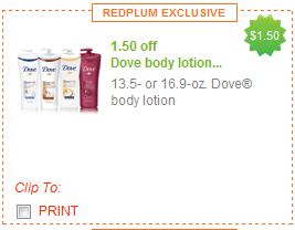target dove lotion coupon