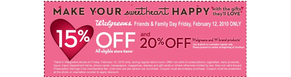 walgreens fandf coupon