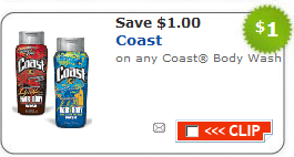 coast bodywash $1/1 Coast Body Wash Coupon