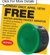 home depot free water aerator