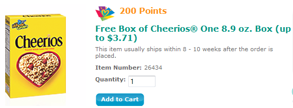 free cheerios reward