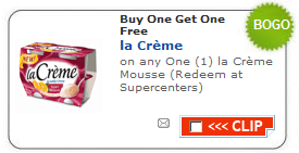 la creme yogurt coupon