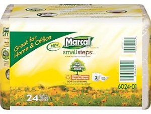 marcal toilet paper 300x227 Staples: Marcal Toilet Paper 24 rolls for $3