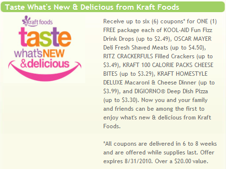 kraft first taste summer