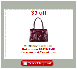 merona handbag coupon