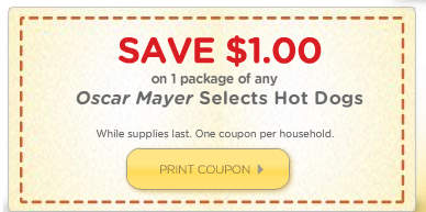 oscar mayer hot dogs select coupon