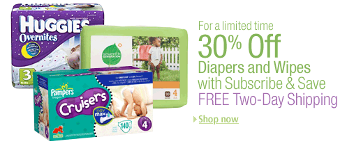 amazon diapers 30 off Amazon: 50% off Diapers Continues