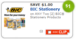 bic coupon Hot $1/2 Bic Product Coupon= FREE at Target and Cheap at Walgreens