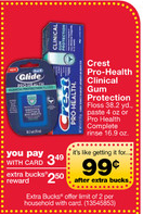 cvs crest deal CVS: Increased Limit for Crest Freebie, Smartwater deal and Weekly CRTs