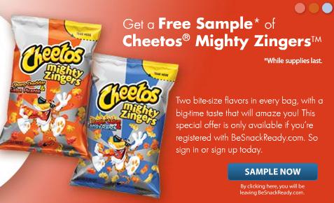 free sample cheetos