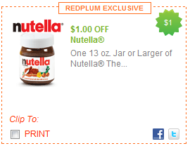 picture relating to Printable Cereal Coupons named Printable Discount codes: Nutella Unfold, Everyday living Cereal, Cap N Crunch