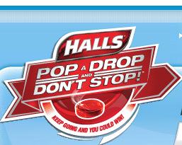 halls pop a drop and dont stop instant win game