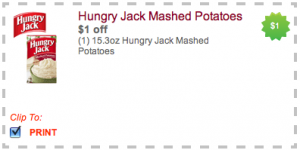 hungry jack mashed potatoes coupon