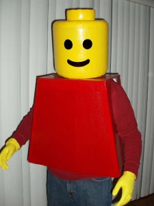 LEGO Man Costume 225x300 Homemade Halloween Costumes How Tos