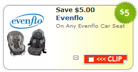 evenflo car seat coupon