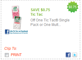 tic tac coupon