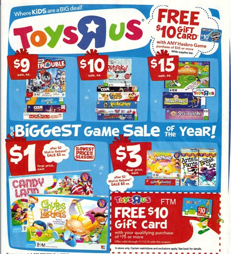 toys r us hasbro games deal