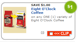 eight o'clock coffee coupon