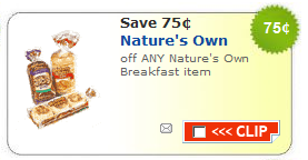 nature's own breakfast coupon
