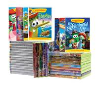 veggie tales DVD library