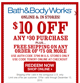 Discount body parts free shipping coupon