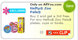 hefty zoopals coupon