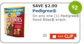 pedigree good bites coupon