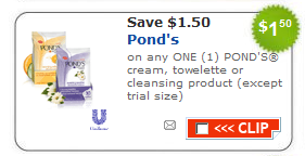 ponds towelettes