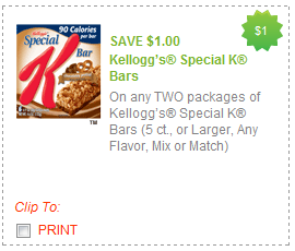special k bars coupon