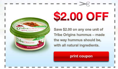 tribe hummus coupon $2/1 Tribe Hummus Coupon