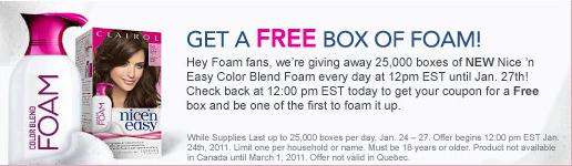 free clairol foam