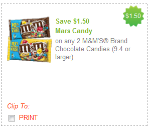 mars candy coupons