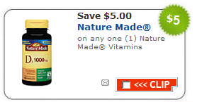 photograph relating to Nature Made Printable Coupons named $5/1 Character Manufactured Vitamins and minerals Printable Coupon codes + Walgreens BOGO