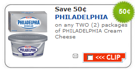 philly cream cheese coupon