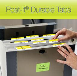 post it tabs sample