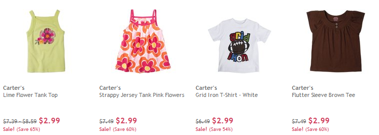 carters clearance again