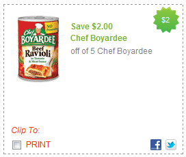 chef boyardee coupons