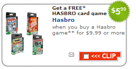 hasbro game coupon